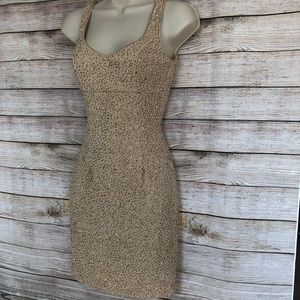 NWT! Gold Cocktail Dress